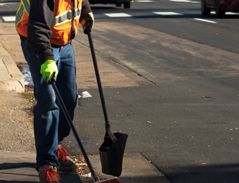 image for Car park maintenance and litter picking services in Bramhall